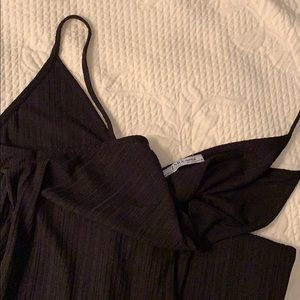 Zara black float jumpsuit